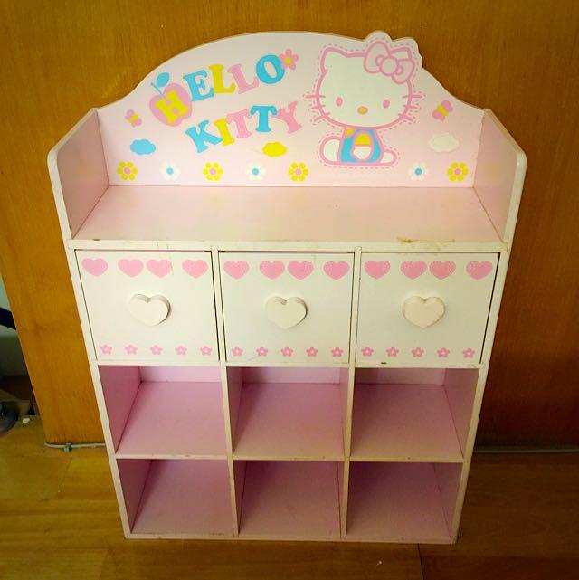 Hello Kitty 收納櫃 九格 正品