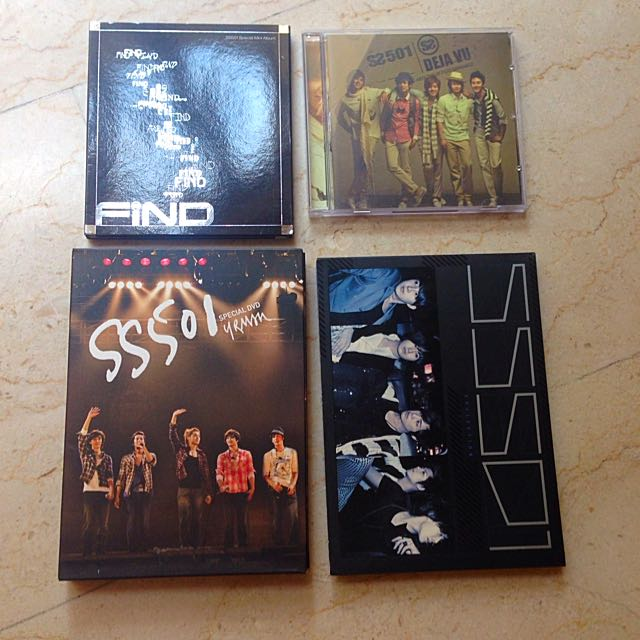 SS501 Official Albums/singles/DVD