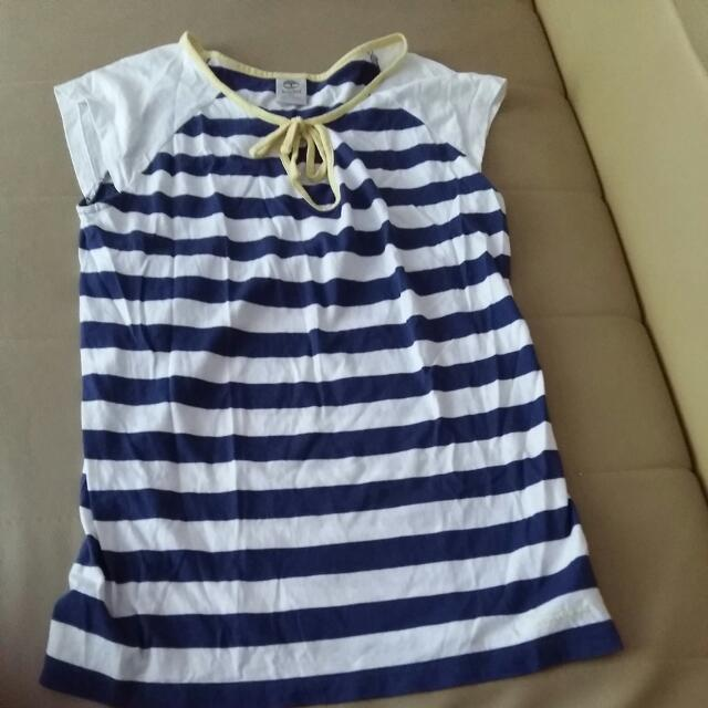 Timberland海軍風短T  shirt