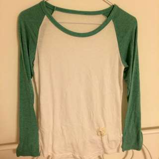 夏日清涼綠白棒球上衣🔆