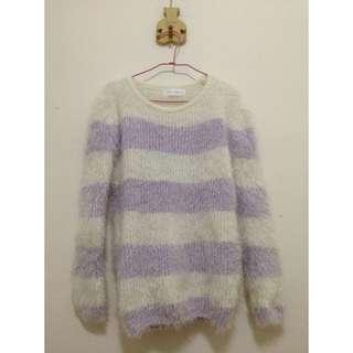 ✏️紫色條紋毛衣