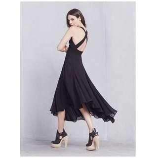 The Reformation Kaylana Dress in Black