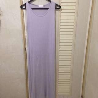 灰色彈性背心長洋 #一百元洋裝 #轉轉來交換#一百元上衣 Lizlisa 日系