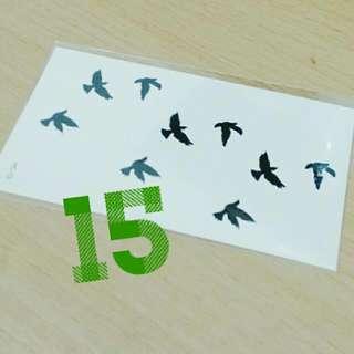 日本原宿風刺青貼-三支飛燕  No.15