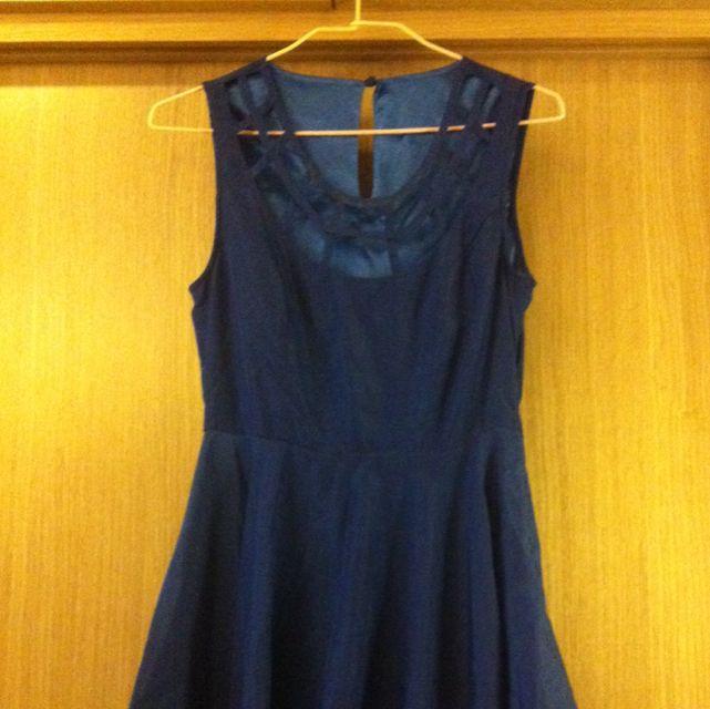 2手。寶藍性感小洋裝
