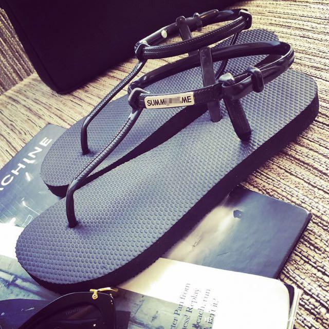 🌴夏日必備輕量橡膠舒適夾腳涼鞋