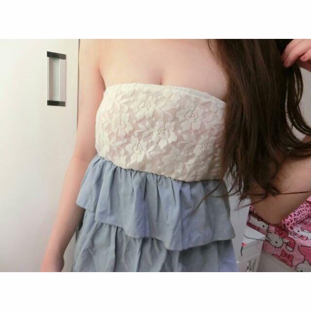 蕾絲蛋糕洋裝