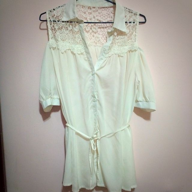 👗純白雪紡洋裝👗外搭比基尼罩衫