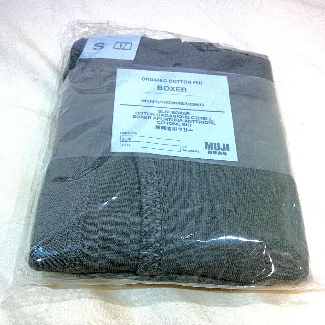 BN MUJI organic cotton rib boxer size S  underwear