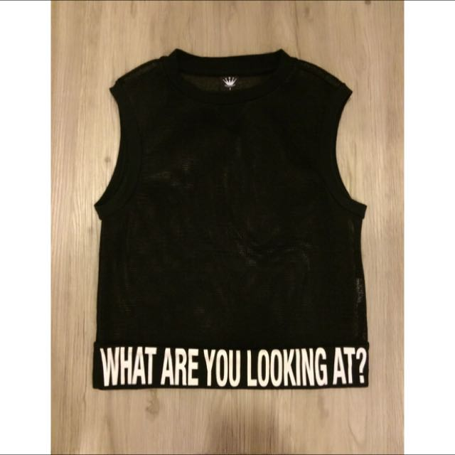 D Mop購入之你在看什麼網狀上衣
