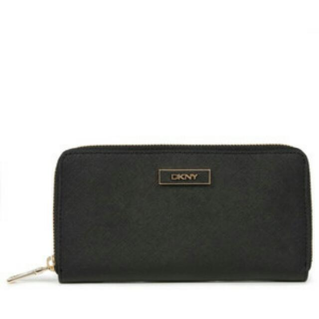 43de9a429638 DKNY Tumbled Leather Zip Around Wallet