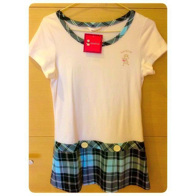 MA•TSU MI 藍格紋長版衣裙