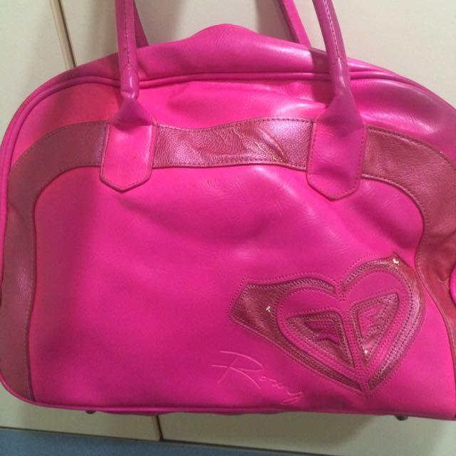ROXY桃紅包包