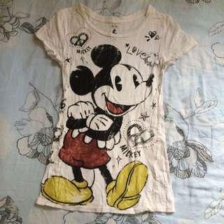 米奇貼身長版T-shirt