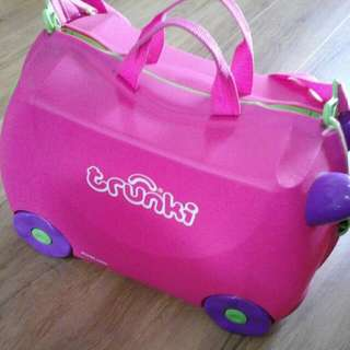 TRUNKI KIDS LUGGAGE BABY PINK PREOWNED