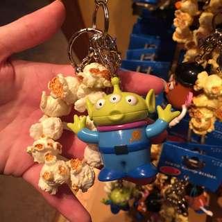 (現貨)日本東京迪士尼三眼怪爆米花吊飾