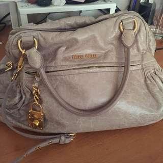 Miu miu Nappa Charm Shoulder Bag