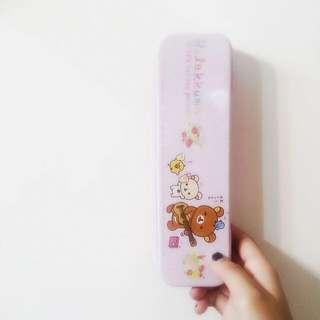 懶懶熊 鐵鉛筆盒