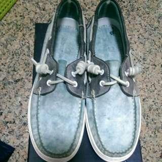 【二手9.5成新】仿舊船型鞋-皮革