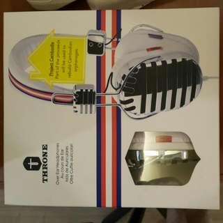 美國潮牌 I-MEGO THRONE CAMBO headphones 柬埔寨慈善系列耳罩型耳機(白色)