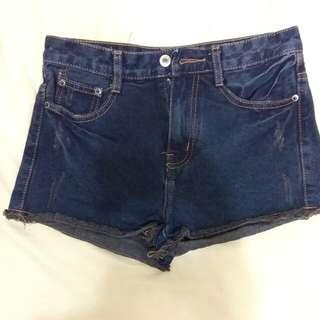 👉含運👈【全新】復古刷色高腰牛仔短褲