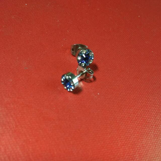 降!✨全新免運✨藍白鑽耳針式耳環