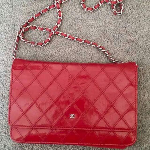Authentic Chanel WOC Chain Bag