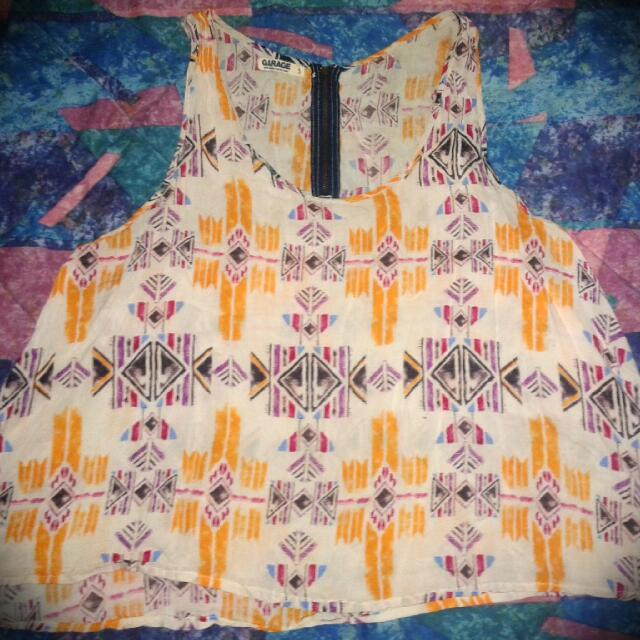 Boho Tribal Print Tank Top