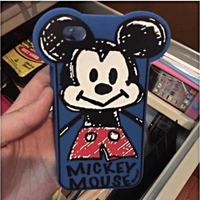 米奇iphone4矽膠軟殼