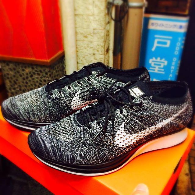 [全新]Nike Flyknit Racer 雪花白勾 🇯🇵