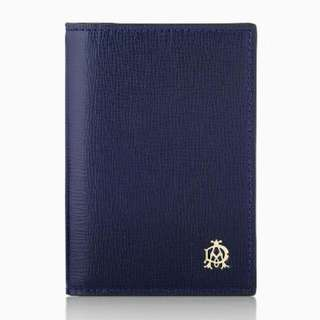 [ dunhill ] Belgrave防刮皮革護照夾 / 證件夾 - 深藍色