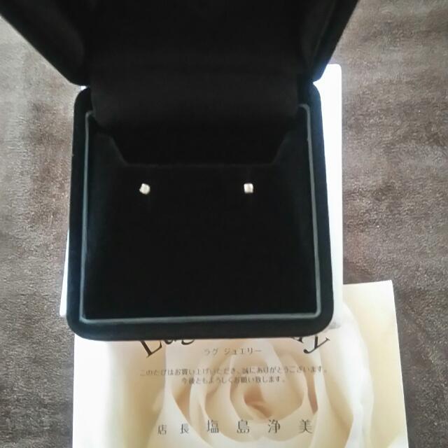 全新日本純10k金鑽石迷你耳環