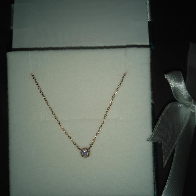 全新日本純10k鑽石項鍊