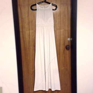 White Mesh Bustier Gown