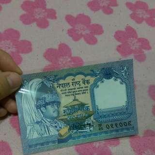 尼泊爾 1991年 1盧比