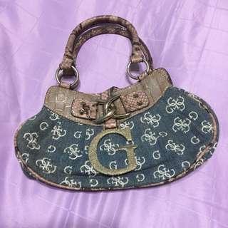 Preloved Authentic Guess Denim Mini Handbag