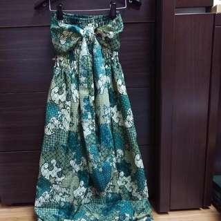 (保留)全新,平口南洋風小洋裝