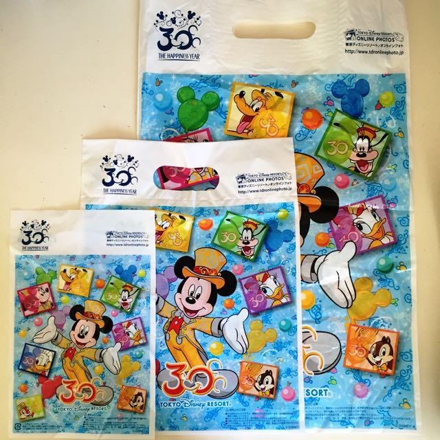 限量日本迪士尼30週年紀念袋