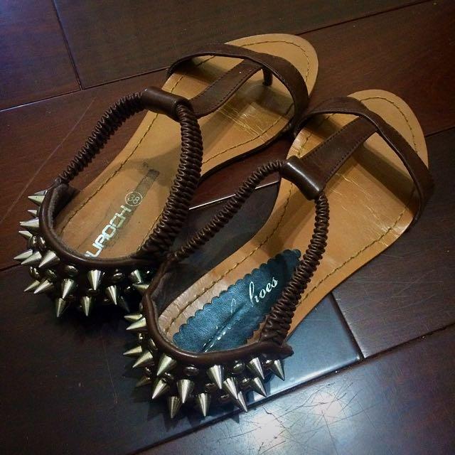 鉚釘休閒涼鞋(近全新)