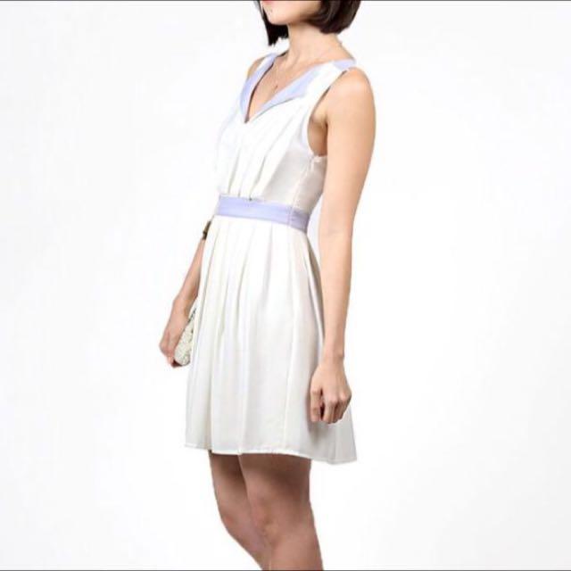 BNWT Hollyhoque Colour Block Dress In Lilac