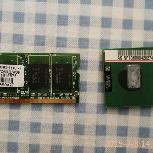 筆電零件(CPU和記憶體)