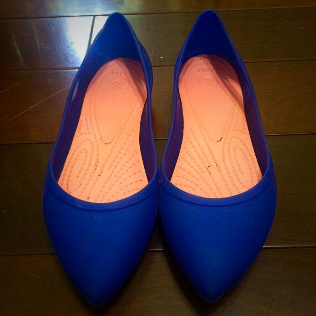 CROCS寶藍尖頭平底鞋(近全新)
