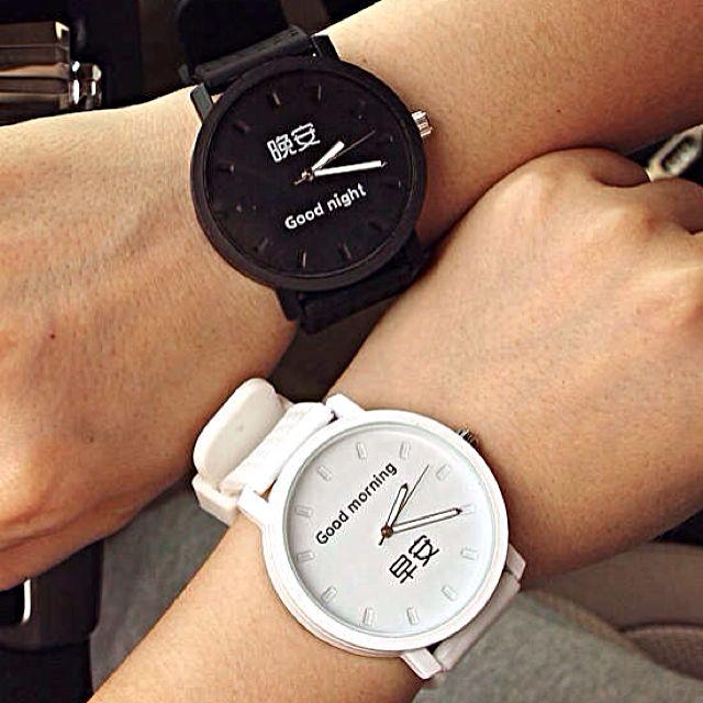 熱賣🚦早安晚安原宿復古手錶