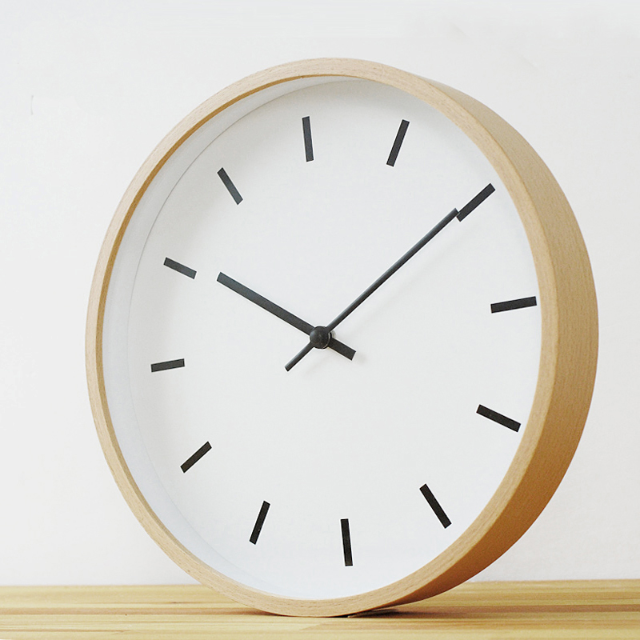 Minimalist Wood Wall Clock , Furniture on Carousell