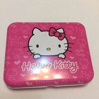 💟kitty貓名片盒(二手)$30