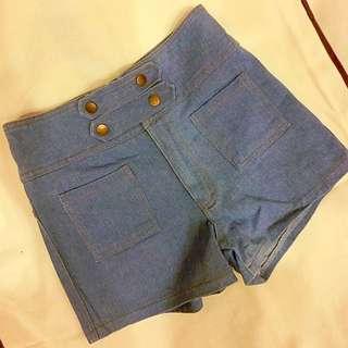 (全新)日雜澀谷109品牌ANAP高腰牛仔短褲