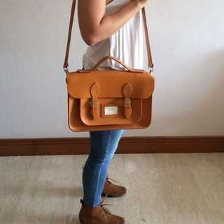 Original Leather Satchel - 14 Inch