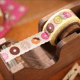{不自然女孩} 全新現貨 日本製 oriental berry手繪風和紙膠帶(甜甜圈)