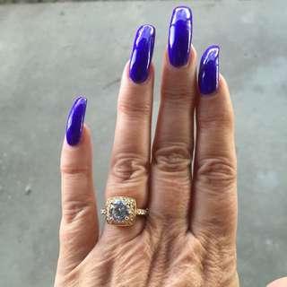 Goldtone Diamond-look Ring