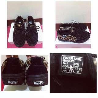 Vans豹紋黑鞋